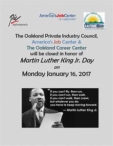 Oakland PIC » Martin Luther King, Jr. Holiday