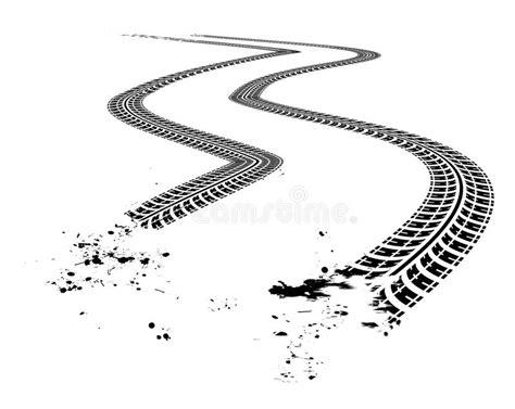 tire tracks stock vector illustration  design dirt