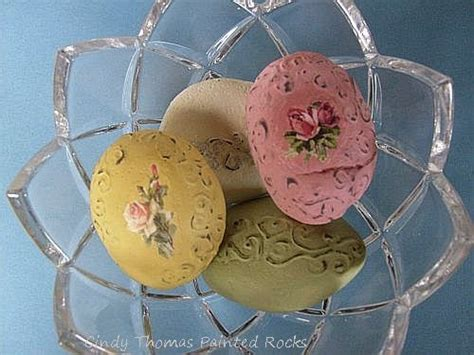 easy shabby chic painting painting rock stone animals nativity sets more how to paint shabby chic rocks and stones