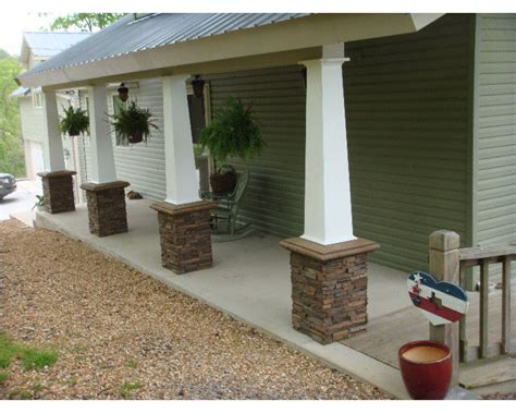 Rock Columns Porch column wraps update porch columns creative faux panels
