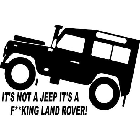land rover logo vector fun land rover td5 defender 4x4 off road sticker 3