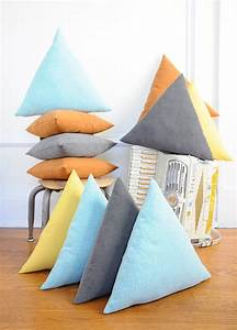 equlateral triangle pillow grey corduroy removable With baby triangle pillow