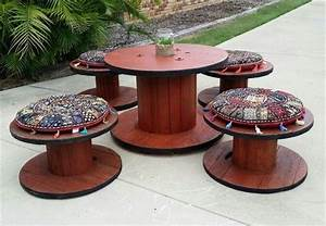 15 Wonderful Diy Wire Spools Furniture To Make For Your