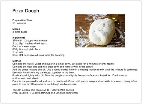 pizza dough recipe great fun etc kids cook perfect pizza from scratch