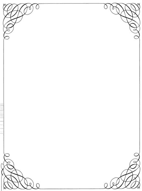 downloadable frames  borders template update