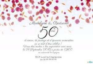 carte d anniversaire de mariage invitation anniversaire mariage 123 cartes