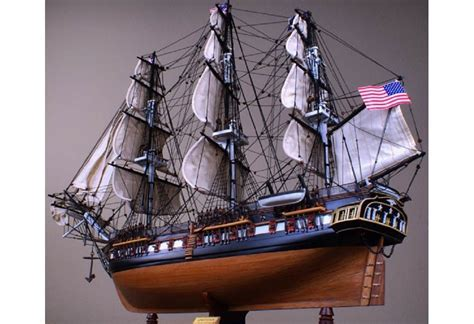 Scaled USS Constitution Old Ironsides Wooden Tall Ship