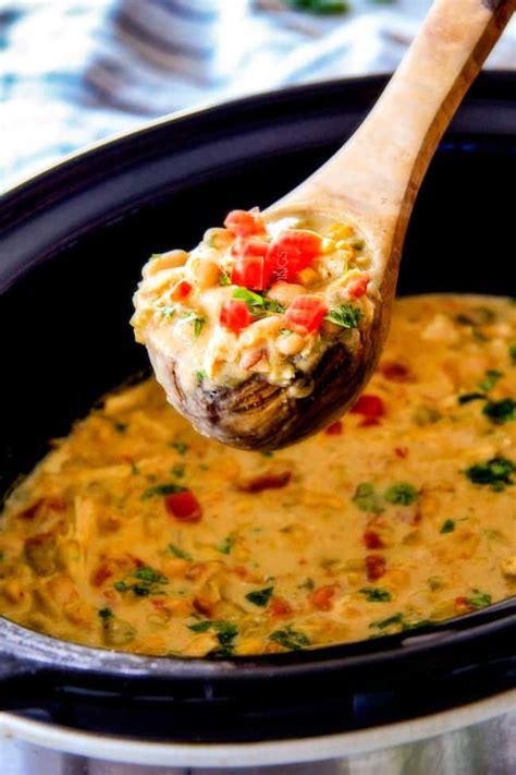 creamy white chicken chili crockpot lightened