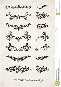 backdrop frame set of vintage decorative patterns stock photos image
