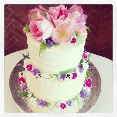 wedding cake  edible tulips spring edible flowers