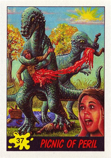 Check spelling or type a new query. These terrifying Dinosaurs Attack! trading cards from the 1980s traumatized an entire generation