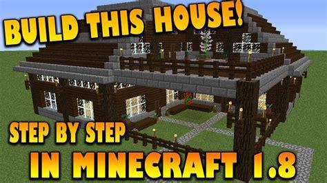 minecraft     house step  step tutorial   build  house  minecraft