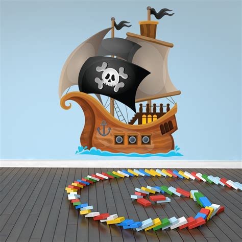 pirate wall decal jolly roger pirate ship wall sticker