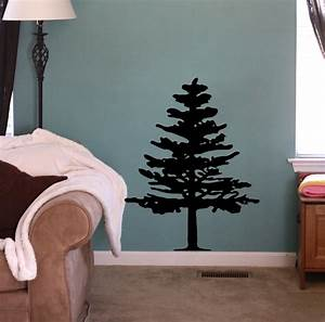 pine tree beautiful wall decals With beautiful pine tree wall decal