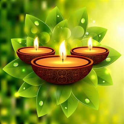 Diwali Diya Vector Illustration Lamp Happy Festival