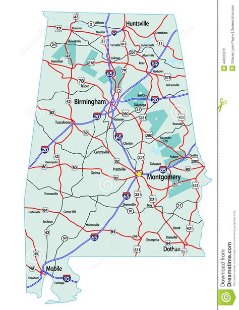alabama map interstate carte highway interstates highways road state maps autoroute dell nationale tusen staten mappa autostrada route iconic note