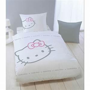 Housse De Couette Petite Fille : housse de couette hello kitty blinky blanc taie tous ~ Melissatoandfro.com Idées de Décoration