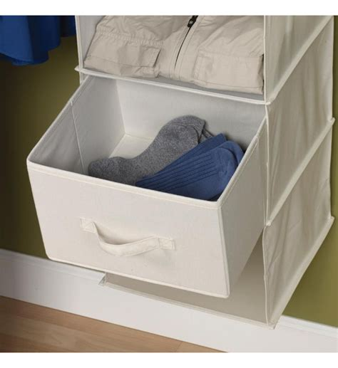 sweater storage canvas drawers for sweater organizer set of 2 in hanging