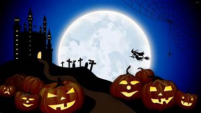 Halloween Moon Witches Witch Wallpapers Laptop Flying