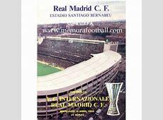Real Madrid vs Internationale 1986 UEFA Cup Memora Football