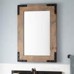 bonner reclaimed wood vanity mirror gray wash pine