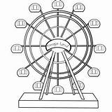 Wheel Ferris Coloring Draw Pages Step Drawing Carnival Rides Wheels Amusement Park Fair Drawings Ride Dragoart Printable Culture County Steps sketch template
