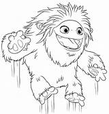 Abominable Yeti Coloring Pages Printable Everest Jumping Print категории все из раскраски sketch template
