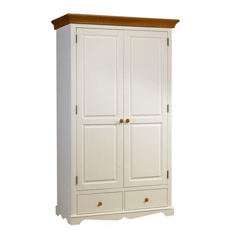 armoire penderie blanche et miel 2 portes beaux meubles