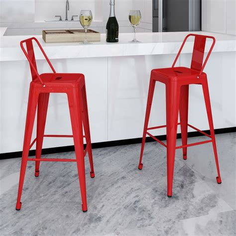 chaise de bar metal bar chair high chairs bar stools square 2 pcs back