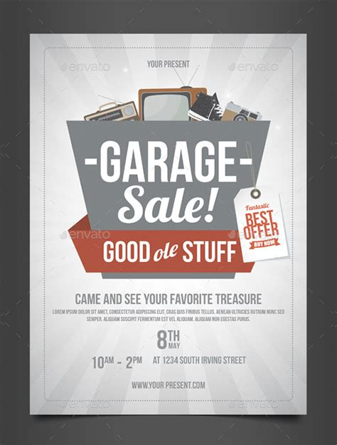 27+ Garage Sale Flyer Templates  Free & Premium Download