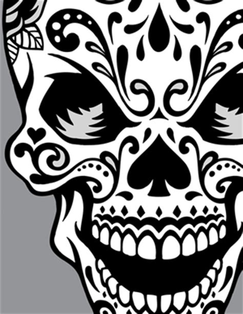 girly sugar skull clipart clipground