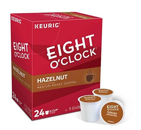 Hints of rum, vanilla and caramel complete this rich coffee made from 100% arabica beans and master roasted for superior flavor. 48 Count - Eight O'Clock Hazelnut Coffee k Cup For KEURIG Brewers   Coffee Store