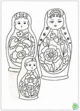 Coloring Dolls Matryoshka Russian Dinokids Matrioshka Doll Nesting Coloringpage Para Kokeshi Close Coloringdolls Bonecas Acessar sketch template