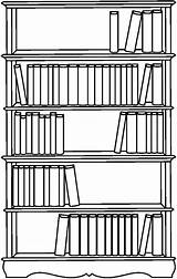 Bookshelf Coloring Pages Bookcase Bible Template Bookshelves Sketch Tocolor Templates Paper Button Through sketch template