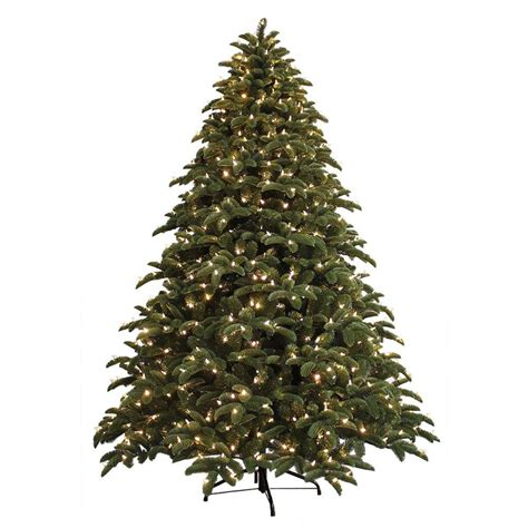 7 5 ft christmas tree with 1000 lights ge 7 5 ft just cut noble fir ez light artificial