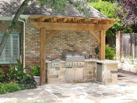 Outdoor Kitchen Kits Diy Fresh Building Ideas Sink Designs W Cover With Smoker Appliances