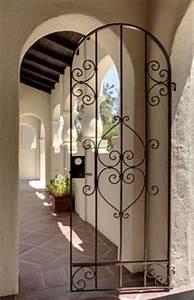 portes d39entree fer forge ferronerie d39art maison With amenagement de terrasse exterieur 17 portes dentree contemporaines komilfo