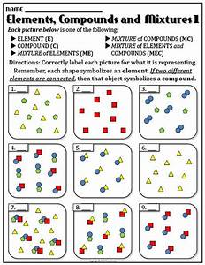 Worksheet: Elements and Compounds 1 | Worksheets, Student ...
