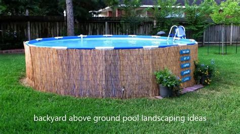 [modern Backyard] Backyard Above Ground Pool Landscaping