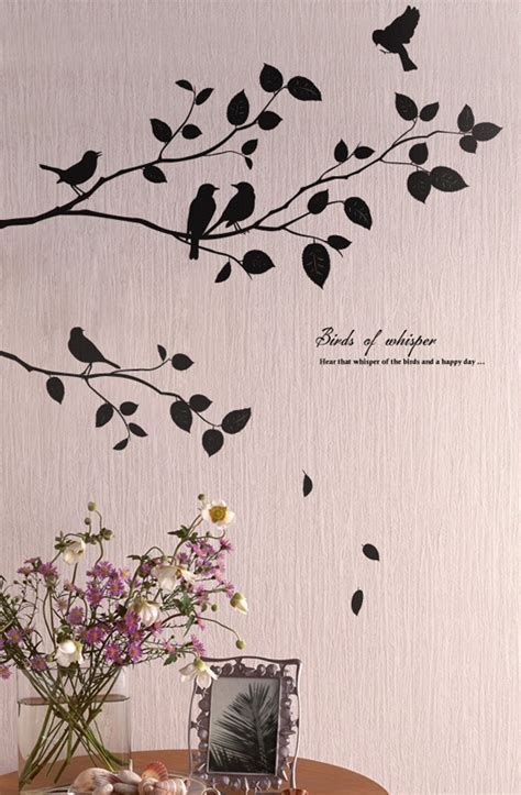 birds tree wall decals stickers for rooms