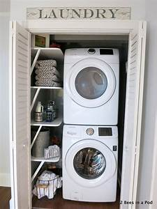 Small laundry room solutions 2 bees in a pod for Small laundry room solutions