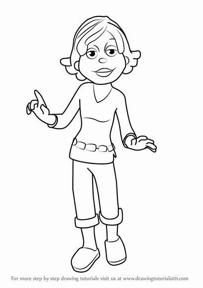 Sid Kid Science Susie Draw Coloring Drawing