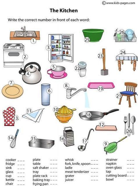 lots  worksheets  common objects categories