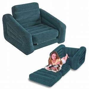 intex one person inflatable pull out chair bed sofa bed With single person sofa bed