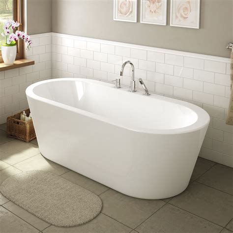 ae bath  shower una   glossy white freestanding