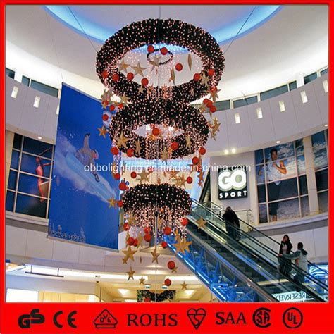 china ce 2015 shopping mall hanging lighted christmas
