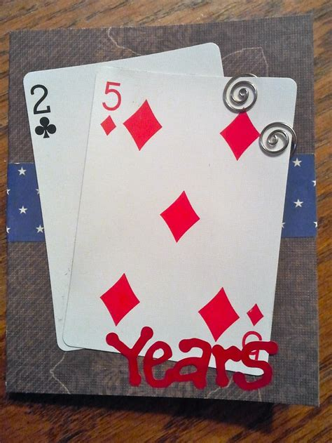 birthday card    age  playing cards