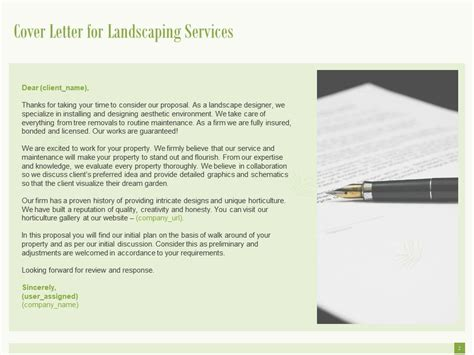 landscaping proposal template powerpoint