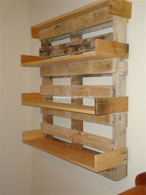 unique table its easy to create wooden pallet shelves pallet wood