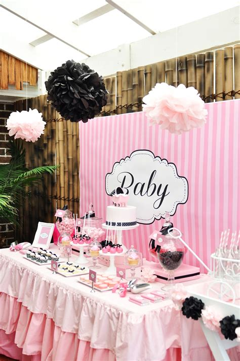 Baby Shower For - studio cake pink white and black baby shower